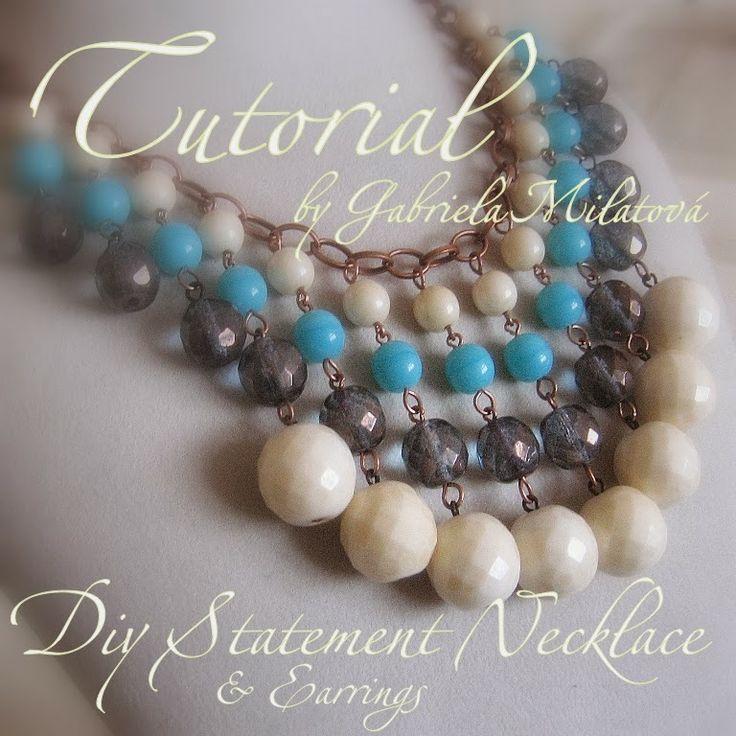Gabriela Milatová craftuje: TUTORIÁL: DIY Statement Necklace & Earrings