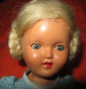 Belle-poupee-ancienne-Gege-rhodoid-Bois-32-cm