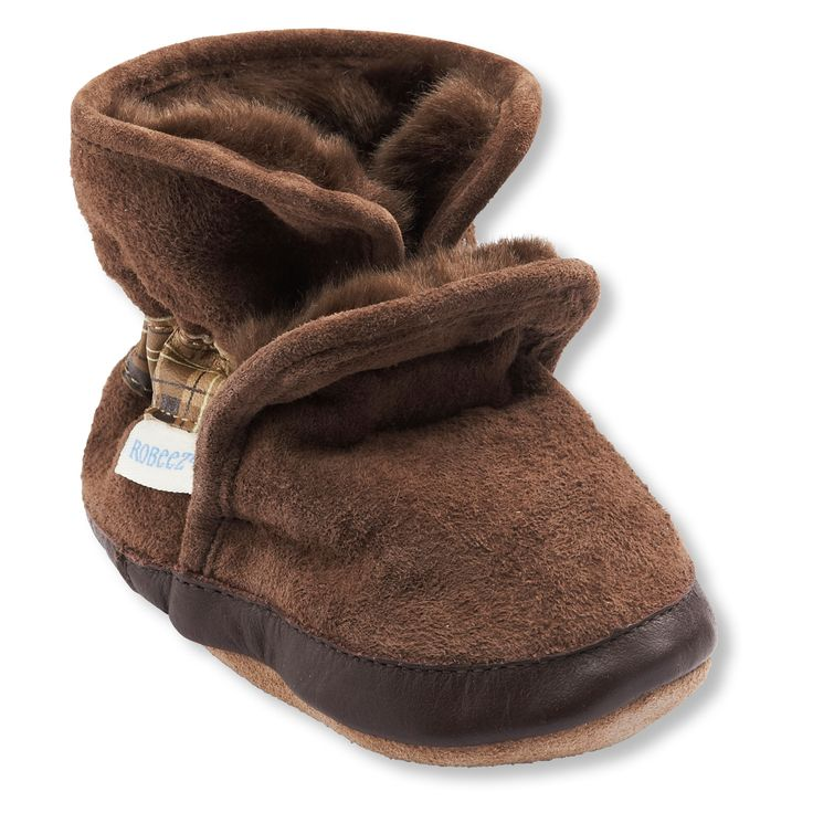 Baby Boy Faux Fur-Lined Suede Ankle Booties | Carters Oshkosh Canada