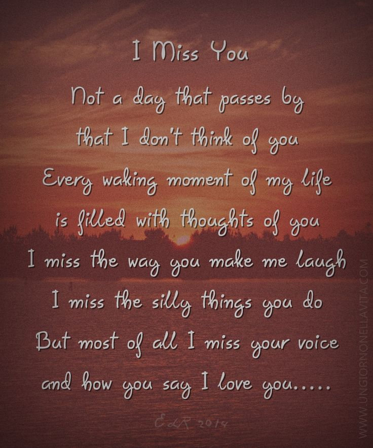 I Really Miss You Poem...