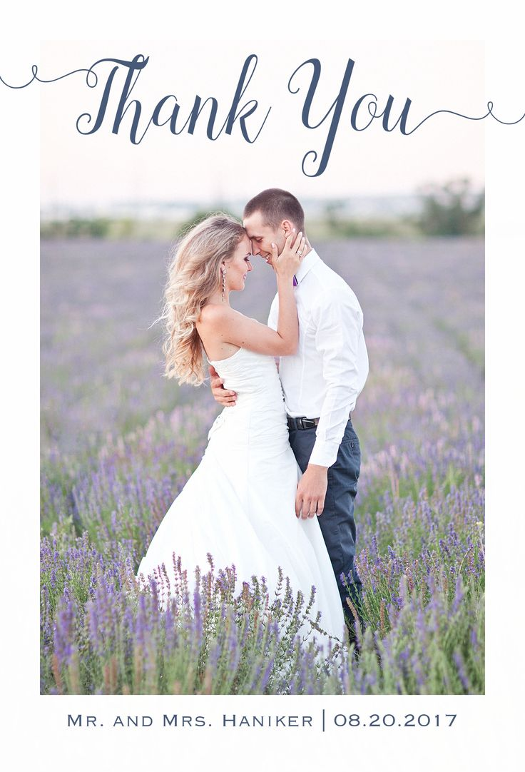 free online printable wedding thank you cards%0A Beautiful Photo Wedding Thank You Card   CatPrint Design