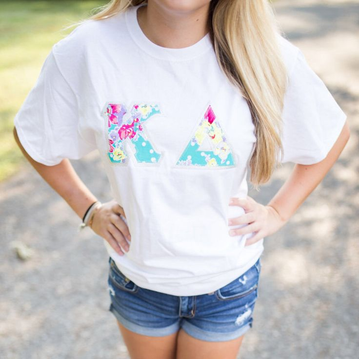 Crew Neck Greek Letter Shirt by LittleGreekBoutique on Etsy https://www.etsy.com/listing/452414940/crew-neck-greek-letter-shirt