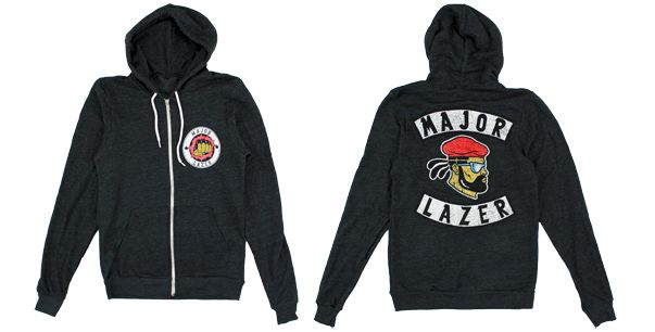 Major Lazer: Biker Zip Hoodie    Wouldn't pay $50 for it tho... just saying.