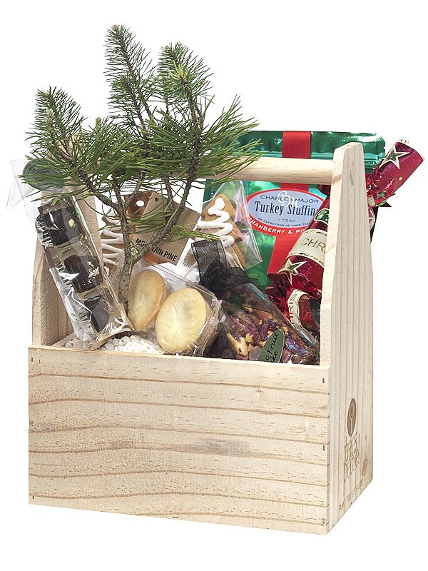 Totes filled with goodies to share and a tree to plant in the work place to continually be remembered by. Happy to tailor goodies to your requirements.