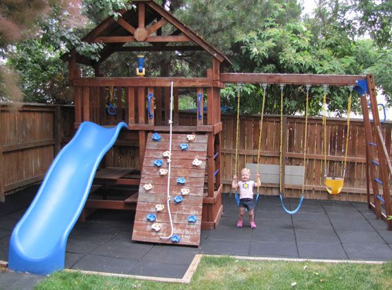44 best images about playground ideas on pinterest for Small backyard ideas for kids
