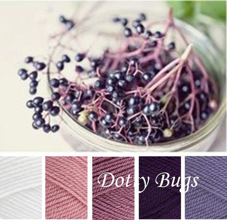 white, pale rose, grape, emperor, violet - stylecraft special dk