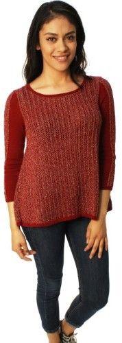 Lucky Brand Women's Metallic Swing Open Weave Sweater-Small