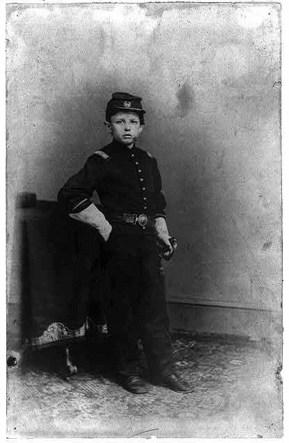 Tad Lincoln, son of President Abraham Lincoln, in a Union uniform, early 1860s. He died in 1871 at the age of 18.