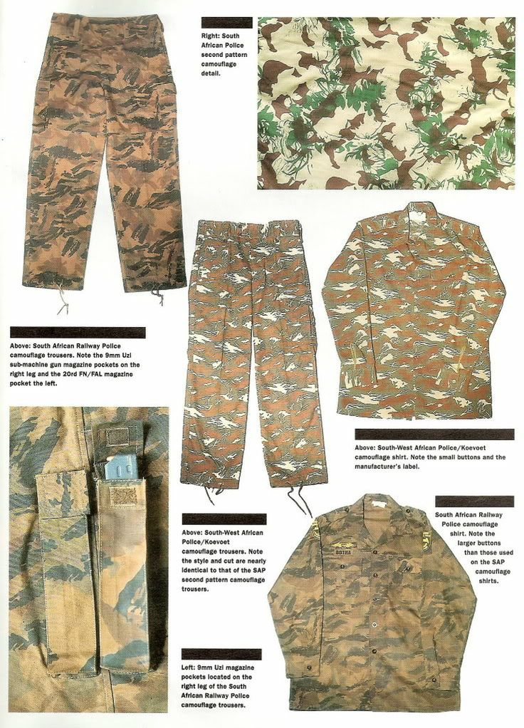 South African Police camouflage patterns