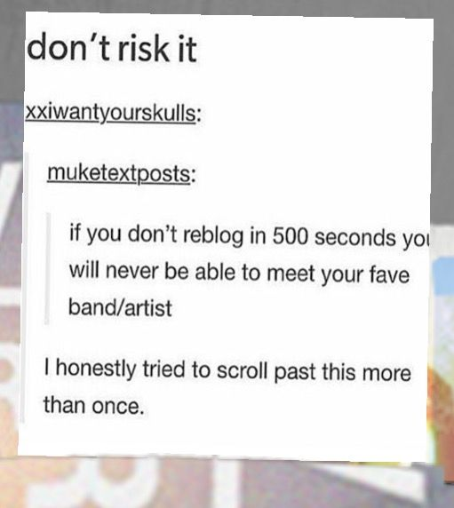 BC LETS NOT RISK THIS SHIT