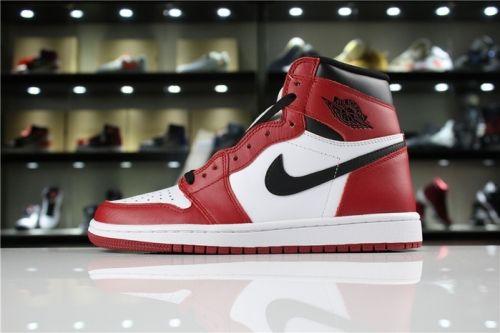 Real Air Jordan 1 Retro High OG Chicago White Black Varsity Red ... ddf075111