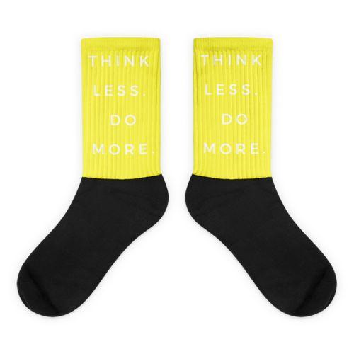 Yellow TLDM Black foot socks