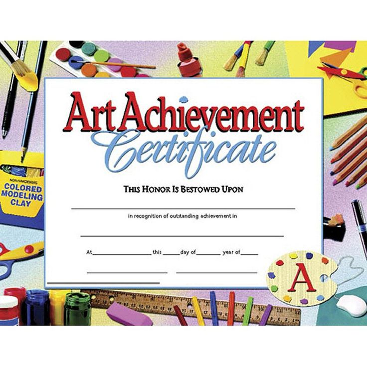 9 best Award certificate images on Pinterest Art projects - certificate of achievement for kids