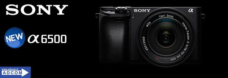 Nuova fotocamera professionale Sony α6500 APS-C con obiettivi intercambiabili, messa a fuoco automatica, veloce e imbattibile!
