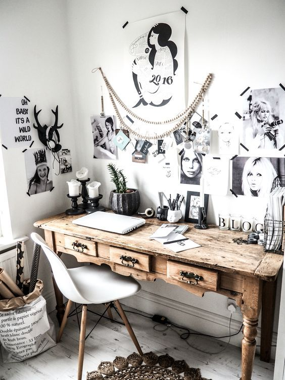 Bohemian workspace Follow Gravity Home: Blog - Instagram - Pinterest - Facebook - Shop