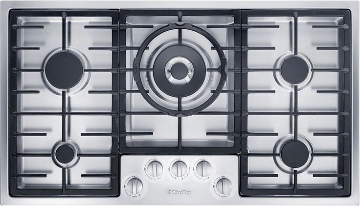 KM 2354 - Gas hob in maximum width for the ultimate in cooking and user convenience.--Stainless steel