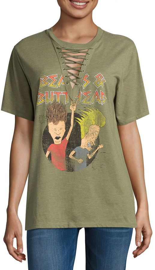 Freeze Beavis and Butthead Graphic T-Shirt- Juniors