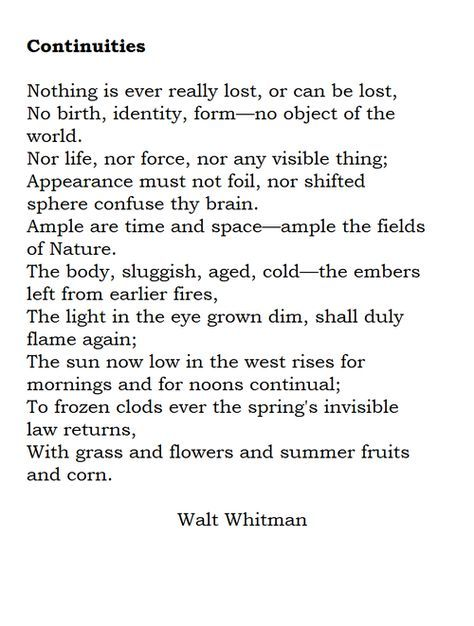The master, Walt Whitman.