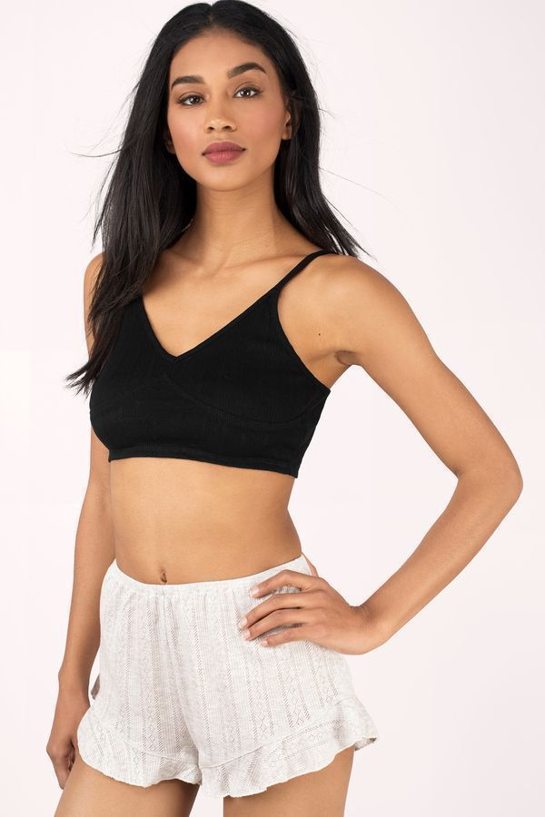 Trendy Ideas For Summer Outfits : Search Hold Me Tight Black Cami Top on Tobi.com! deep v cami vneck bralette br