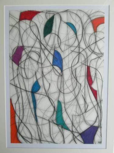 "Saatchi Art Artist Kevin Jones; Drawing, ""Eleven Colour Abstract No.10"" #art"