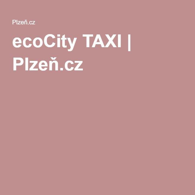 ecoCity TAXI | Plzeň.cz
