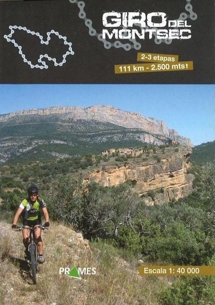 GIRO DEL MONTSEC. Mapa a escala 1:40.000 que abarca 2-3 etapas de 111 km. de longitud y 2.500 metros de altitud. Se realizan las etapas en bicicleta de montaña Disponible en @ http://roble.unizar.es/record=b1582631~S4*spi