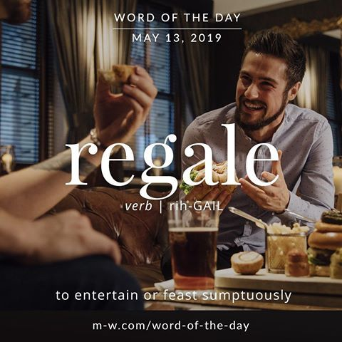 Regale – Word of the Day