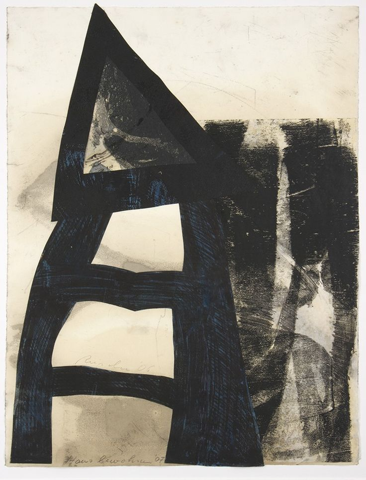 Klaus Reincke – Hausbewohner | Monotypie | 63 x 48 cm (Bild) | 100 x 70 cm (Rahmen) | 2007 | Preis mit Rahmen