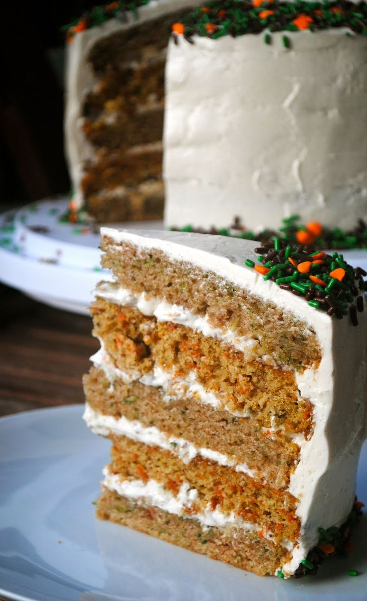 Zucchini Carrot Cake with Spiced Honey SMBC | Fat Girl Trapped in a Skinny Body