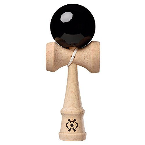 Kendama USA - Tribute Kendama - Black:   The Tribute represents a premium quality Kendama, combining an unmatched combination of design and playing performance. These high quality Kendamas use only the best beech wood which is FSC certified, to ensure sustainable forestry practices. We have improved the handle assembly to create the strongest Ken ever made. Unlike older traditional style Kendama handles, this contemporary style does not separate during play, and simplifies the re-strin...