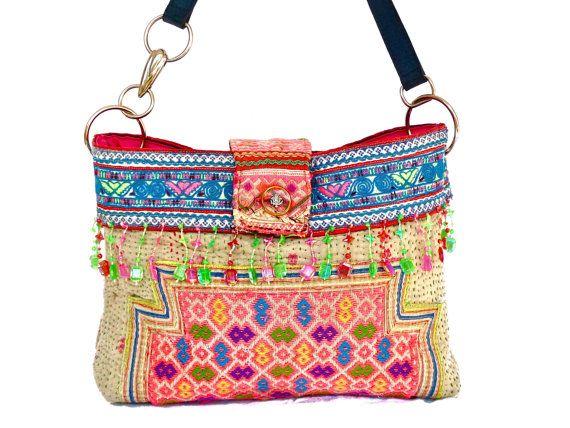 hmong bag - small ethnic thai hill tribe purse