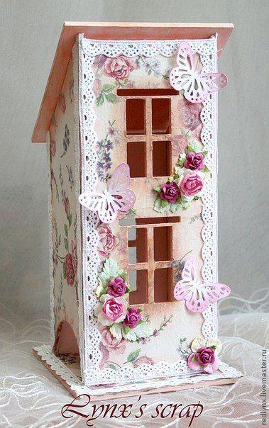 """Чайный домик """"Розовое настроение"""" - чайный домик,для чайных пакетиков"""