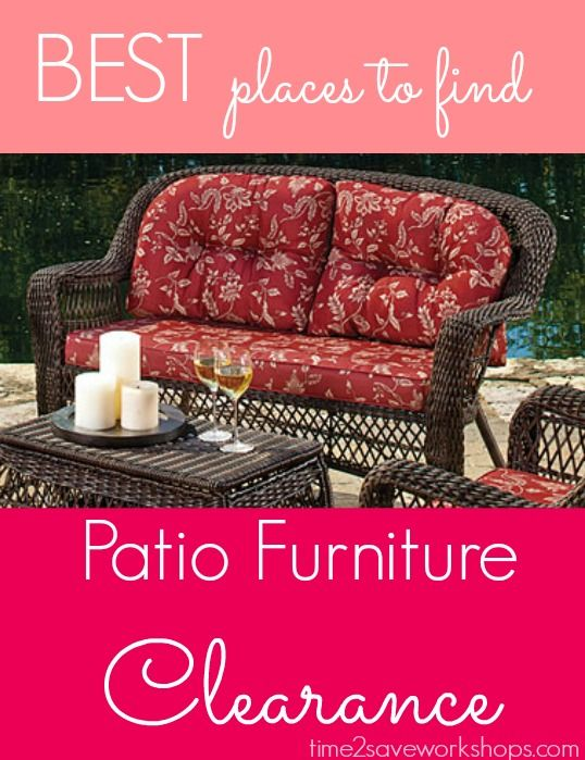 The BEST time to get Patio Furniture Clearance | Target, Walmart, Kmart, Home Depot, Big Lots and More!Screens Porches, Patio Furniture, Outdoor Patios, Cushions Sofas, Outdoor Living Patios, Screened Porches, Biglots Furniture, Big Lot Patios Furniture, Resins Wicker
