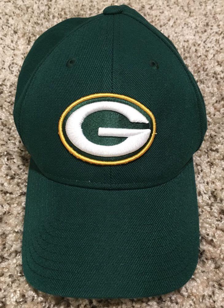 Green Bay Packers NFL Reebok Adjustable Closure Hat Baseball Cap EUC #Reebok #GreenBayPackers #BaseballHat
