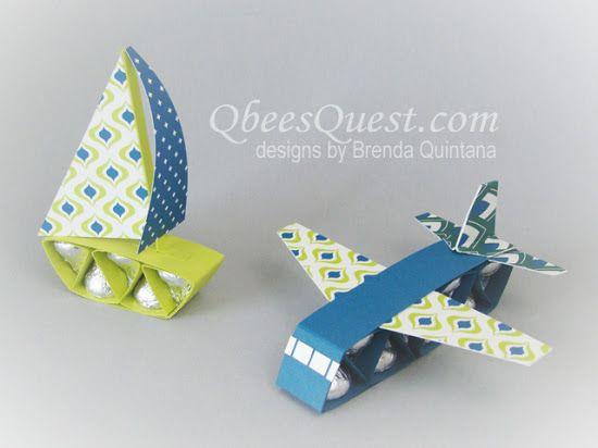 Qbee's Quest: Hershey's Sailboat & Airplane Tutorial
