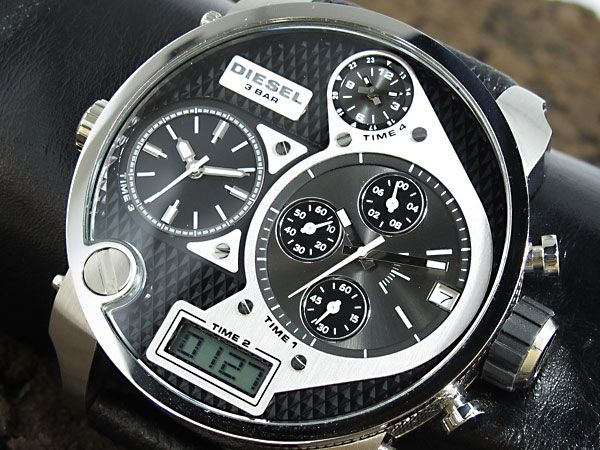 men 39 s diesel big daddy big faced chronograph watch dz7125. Black Bedroom Furniture Sets. Home Design Ideas