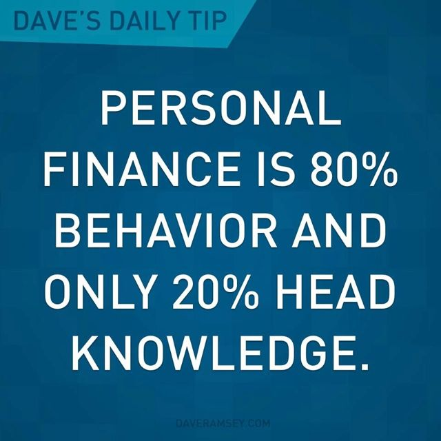 Great quote from Dave Ramsey