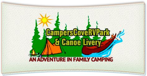 Campers Cove RV Park & Canoe Livery – Located on beautiful Thunder Bay River and Lake Wynah