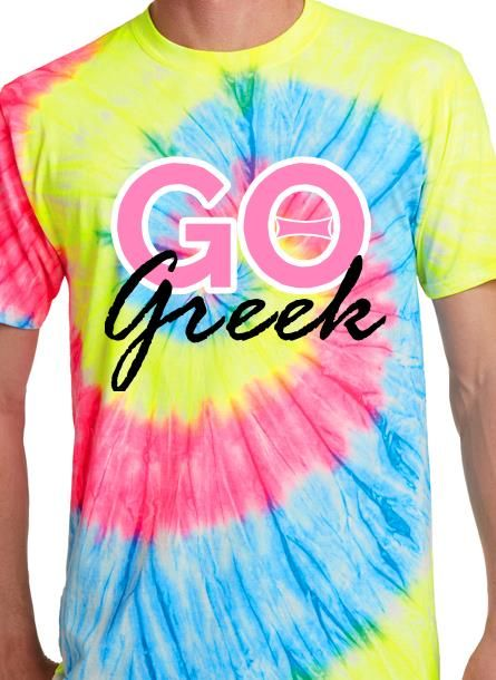 f69195607 Go Greek tie dye tee shirt design idea and template. Create custom tees  online.
