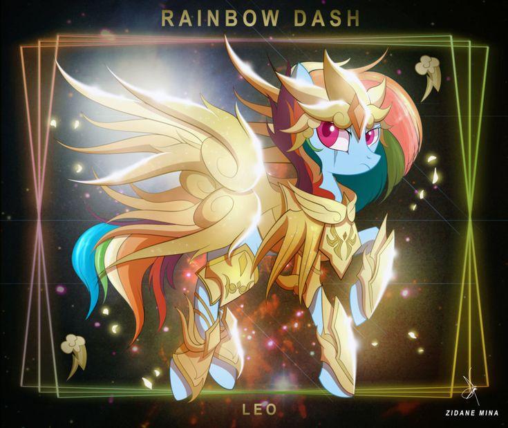 Rainbow Dash de Leo - Armadura Divina by ZidaneMina