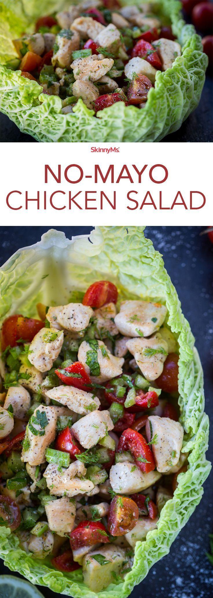 This No-Mayo Chicken Salad is a snap to make and guaranteed to satisfy!
