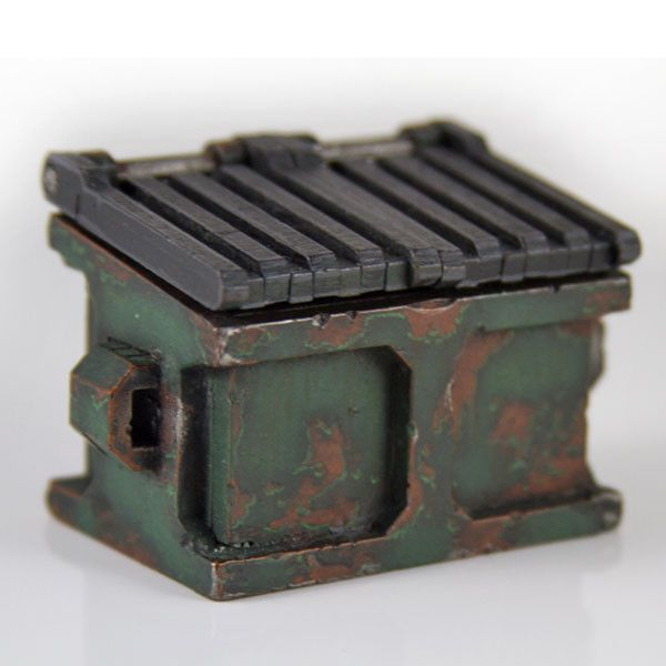 Garbage Dumpster. This would add an awesome level of detail to my city terrain board!