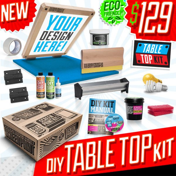 115 best diy news images on pinterest screen printing diy table top screen printing kit solutioingenieria Images