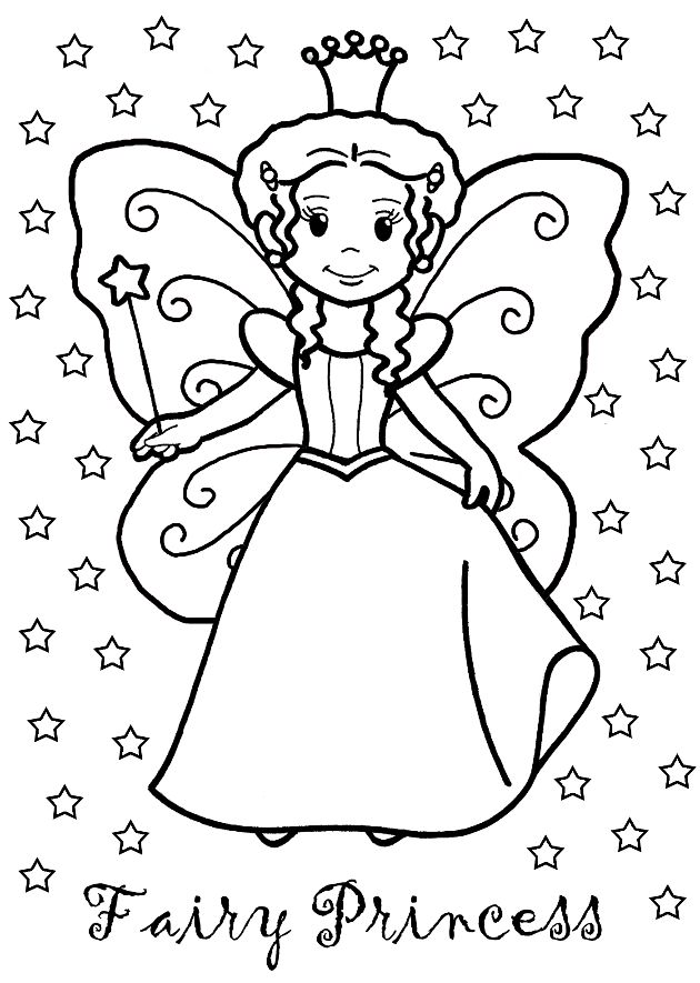 farytale princess coloring pages - photo#15