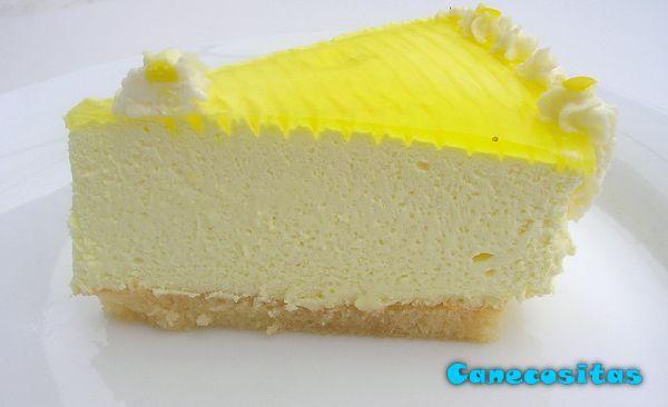 Tarta mousse de queso y limón