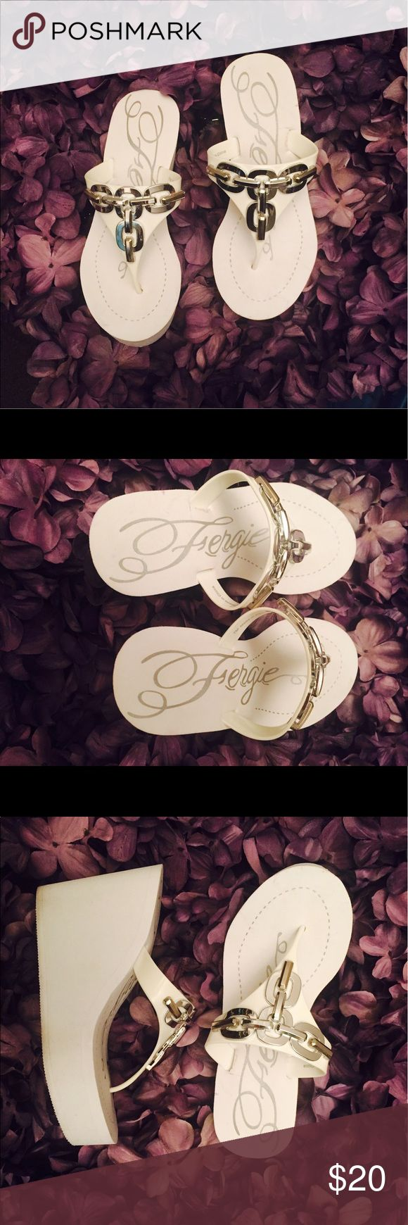 Fergies Platform Wedge Sandals Worn Once Fergie Shoes Sandals