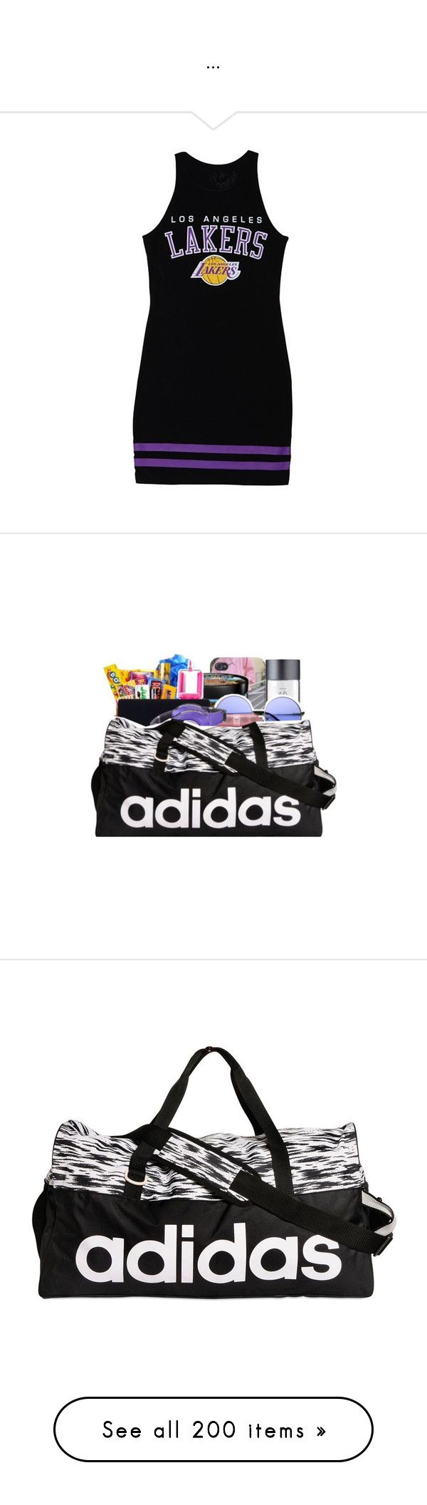 """""""..."""" by trillest-queen ❤ liked on Polyvore featuring dresses, forever 21, premades, bags, handbags, adidas, workout, pattern purse, adidas bag e adidas purse"""
