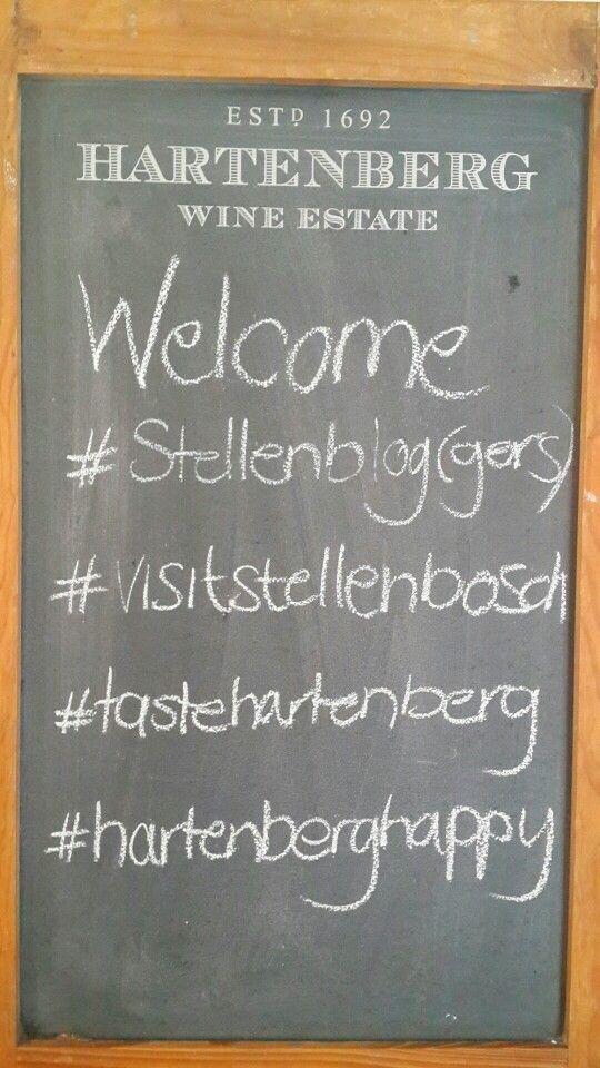 Hartenberg welcomes everyone to the #Stellenblog event #visitstellenbosch #tastehartenberg
