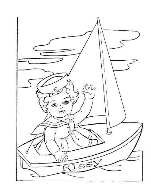 kissy coloring book paper dolls  1963