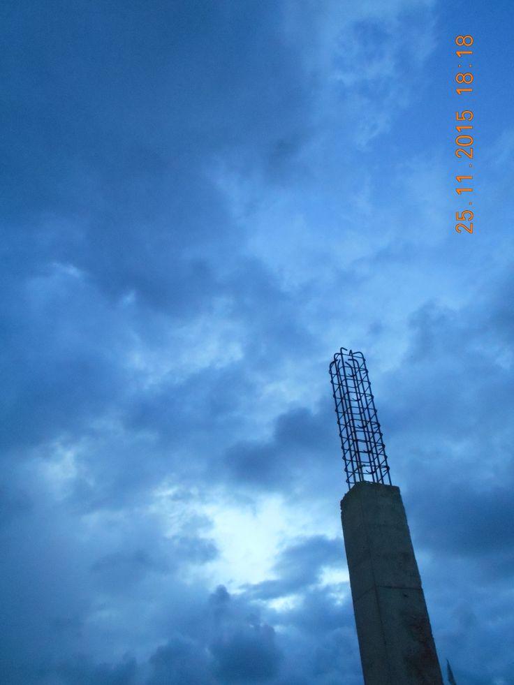 Awan kelabu membiru, Padang  #NK